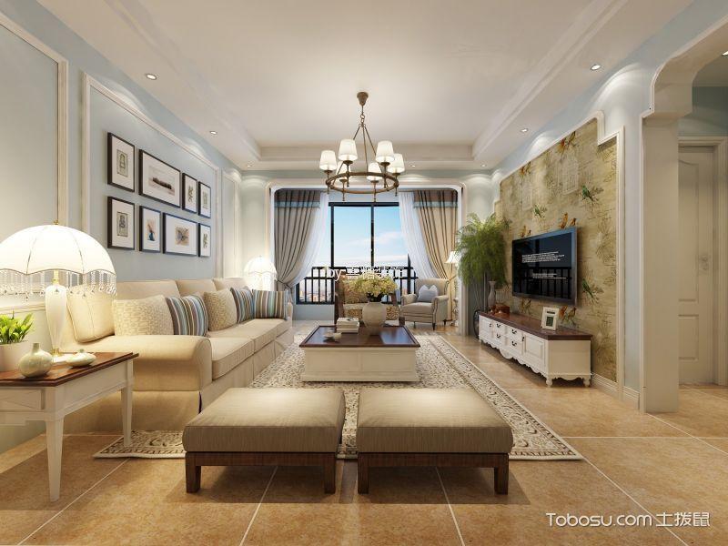 瀚宇天悦美式风格三居室装修效果图