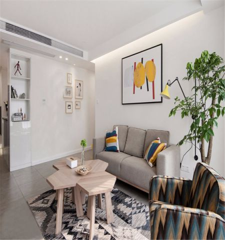 格调简约灰色小户型沙发装修方案