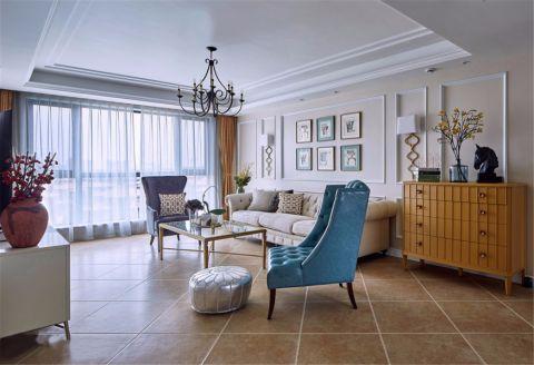 中海锦苑138平方美式风格三居室装修效果图