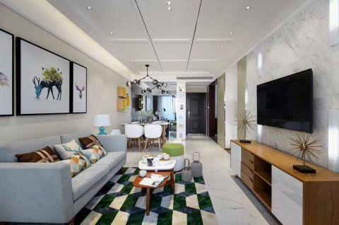 怡景尚居90平北欧风格2居室装修效果图