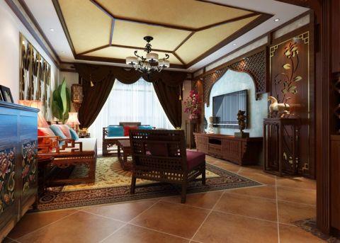 科研院单位房130平东南亚风格楼房装修效果图