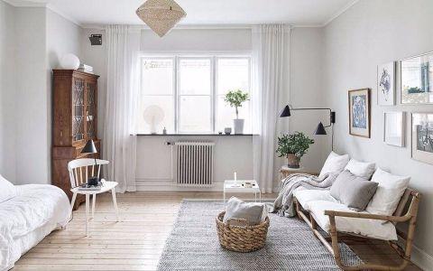 浦锦路北欧风格一居室装修效果图