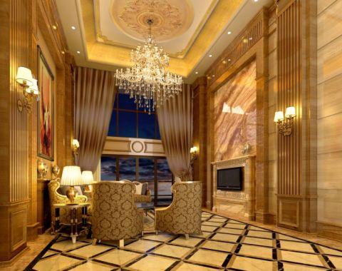 半岛半山楼中楼250平欧式风格风格大户型装修效果图