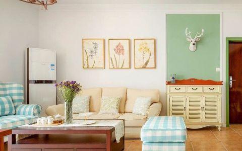 宝杨路90平美式风格一居室装修效果图