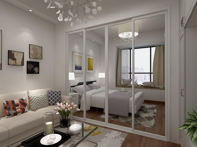1室1卫1厅48平米简约风格