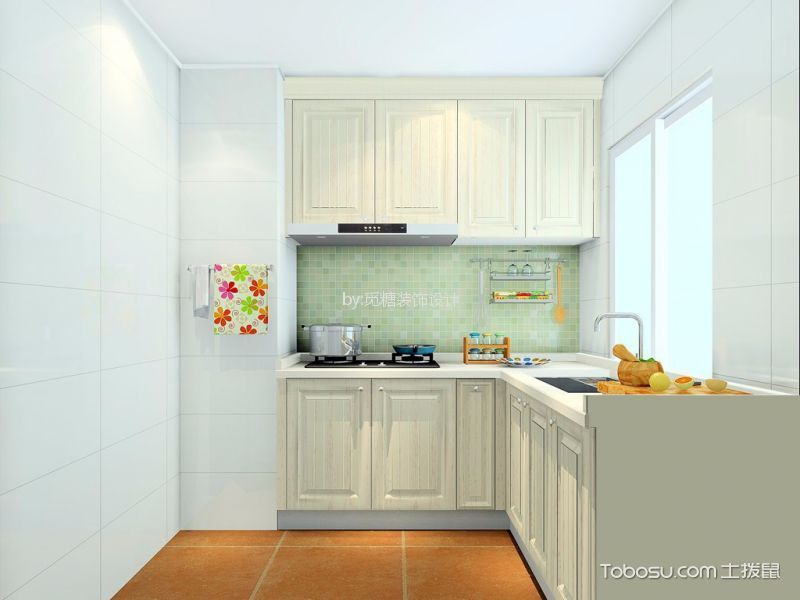 紫荆楼简欧风格两室一厅装修效果图