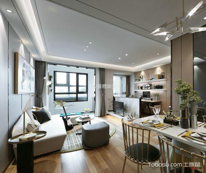 金地 75㎡现代简约风格两居室装修效果图