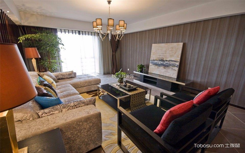 玉兰广场146平现代风格三居室装修效果图