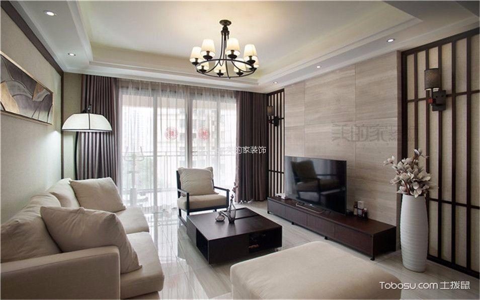国宾城110平中式风格三居室装修效果图