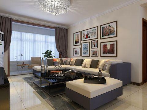 花语馨苑125平三居室现代简约装修效果图