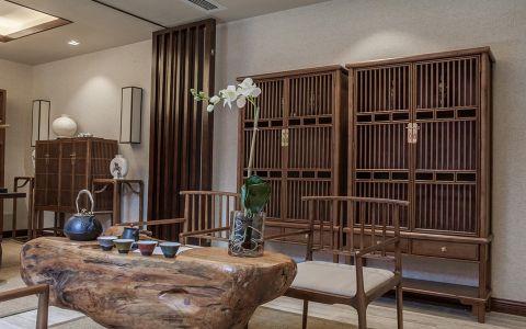書房根雕茶幾新中式裝潢圖