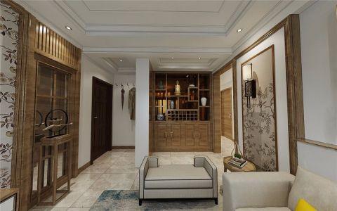 首山丽景新中式风格三居室装修效果图
