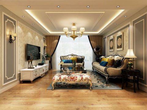 御翠园120平米欧式三居装修效果图