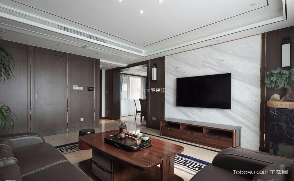 东海花园137新中式风格四居室装修效果图