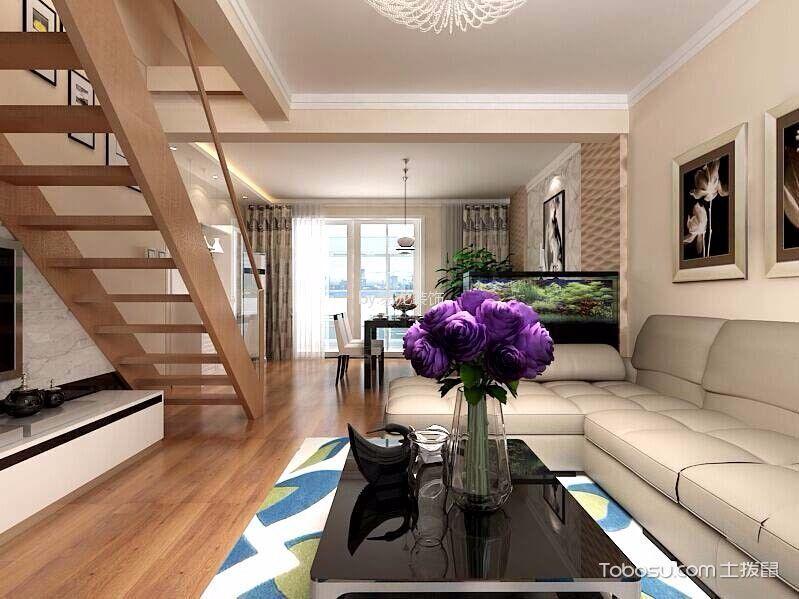 现代简约风格120平米复式房子装饰效果图