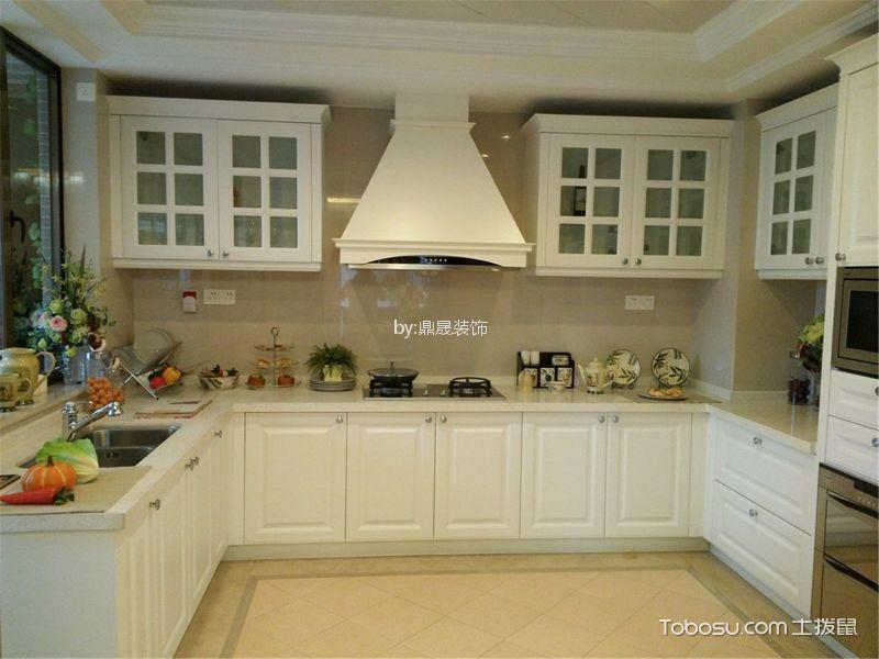 厨房 橱柜_金地格林小城136平方欧式风格装修效果图