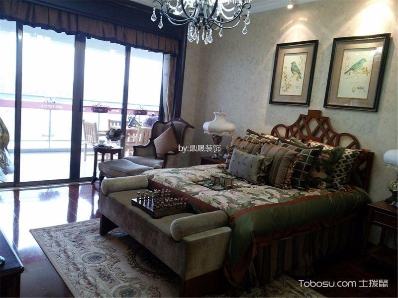 卧室 床_金地格林小城136平方欧式风格装修效果图
