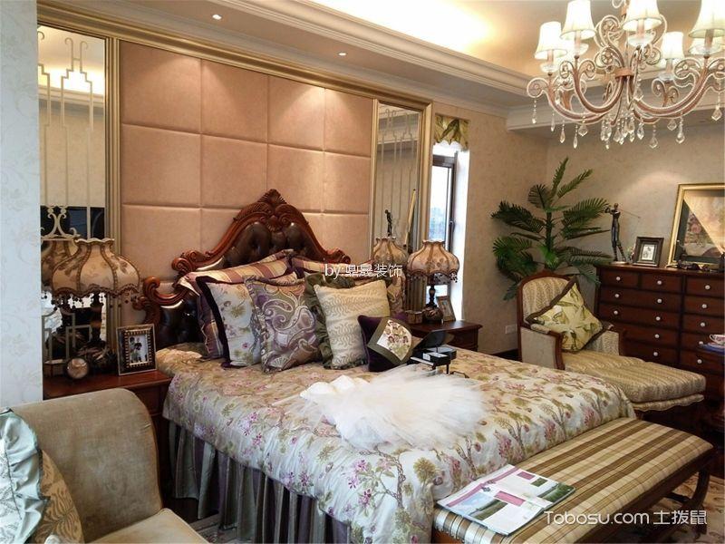 卧室 灯具_金地格林小城136平方欧式风格装修效果图