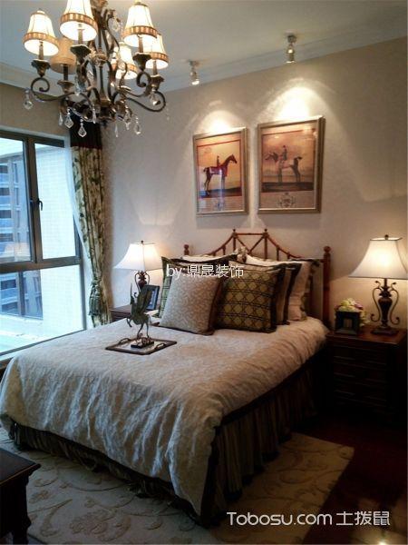 卧室 吊顶_金地格林小城136平方欧式风格装修效果图