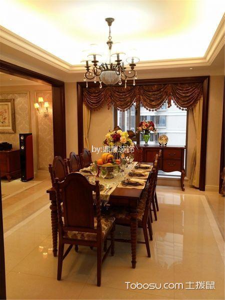 餐厅 餐桌_金地格林小城136平方欧式风格装修效果图