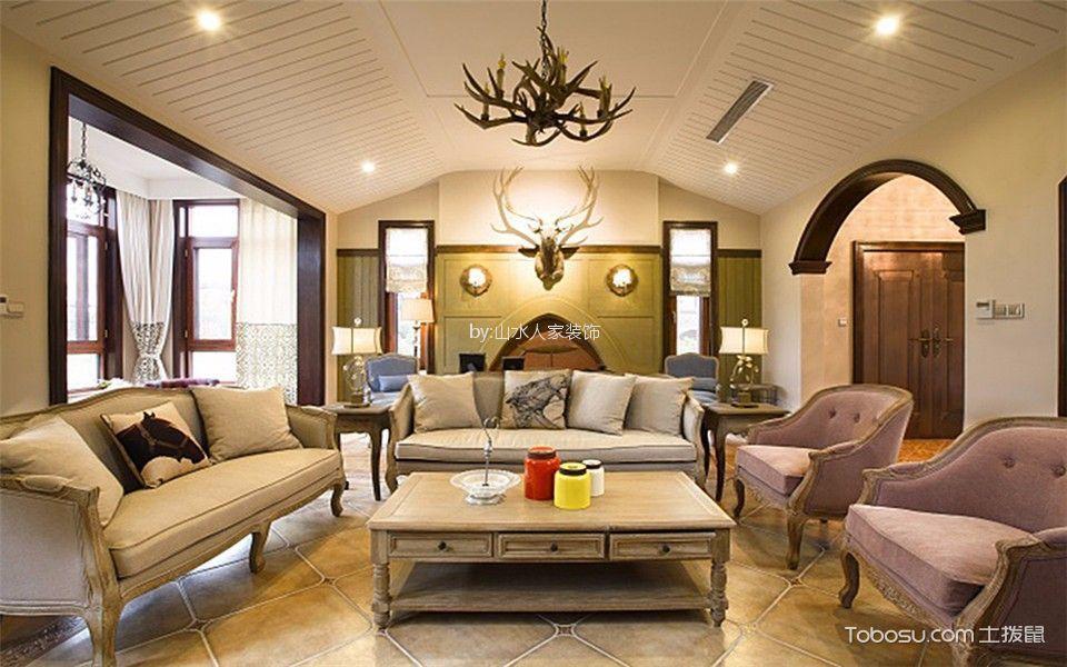 万豪世纪天街144平美式风格四居室装修效果图