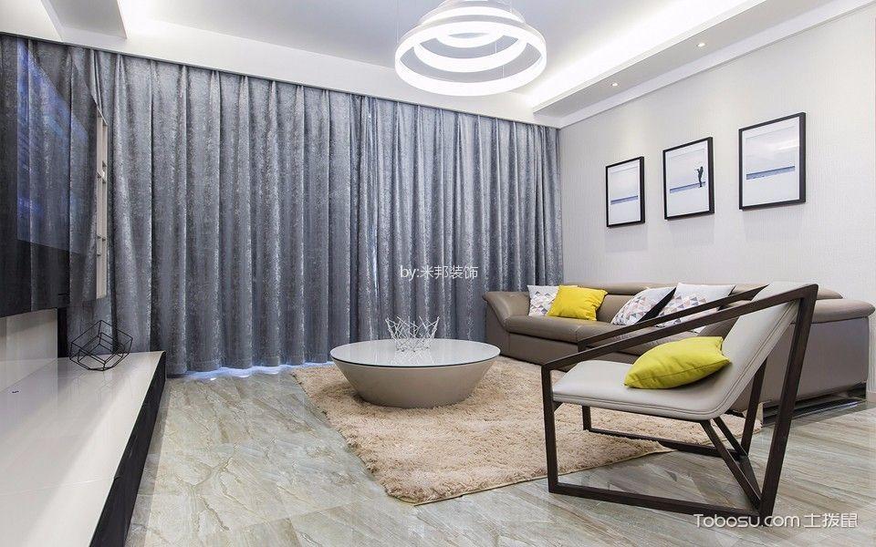 御龙山128平现代简约风格三居室装修效果图