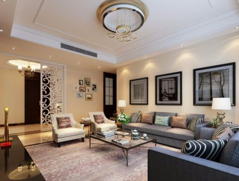 鑫苑世家80平方现代简约风格楼房装修效果图
