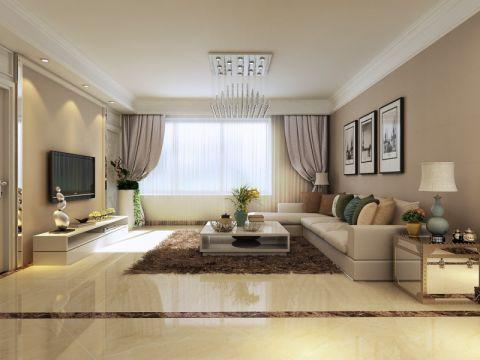 简欧风格100平米楼房新房装修效果图