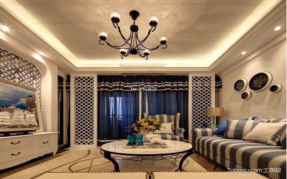 嘉宏云顶126平混搭风格三居室装修效果图