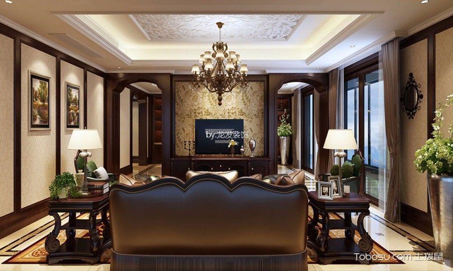 世茂之西湖小区255平美式风格四居室装修效果图