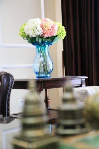 大名城120-180平米美式三室两厅咖啡色装修效果图
