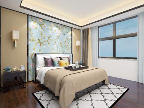 中式卧室背景墙家装设计
