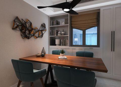 紫金城128平米北欧风格三居室装修效果图图