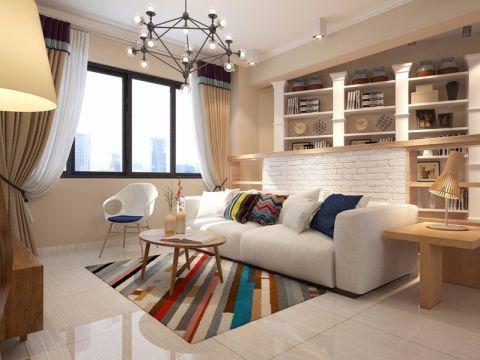 滨江花城韩式风格80平米二居室装修效果图