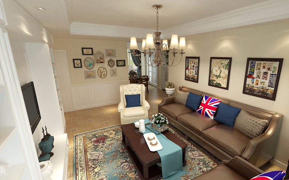 3室1卫2厅115平米美式风格