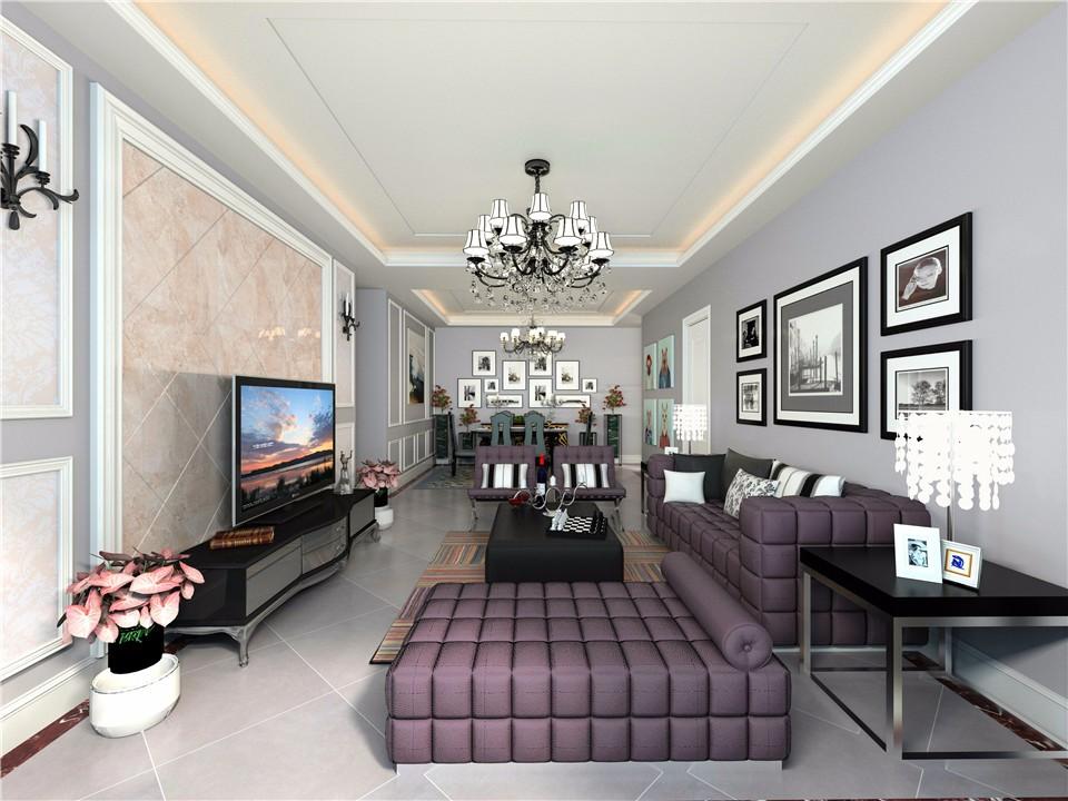 3室2卫2厅现代欧式风格