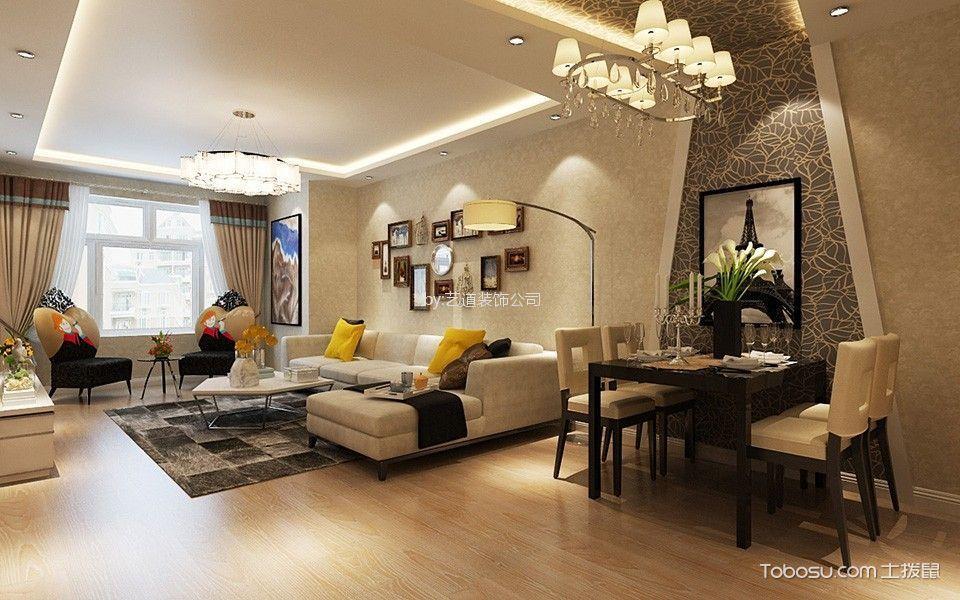 60平简约风格二居室装修效果图
