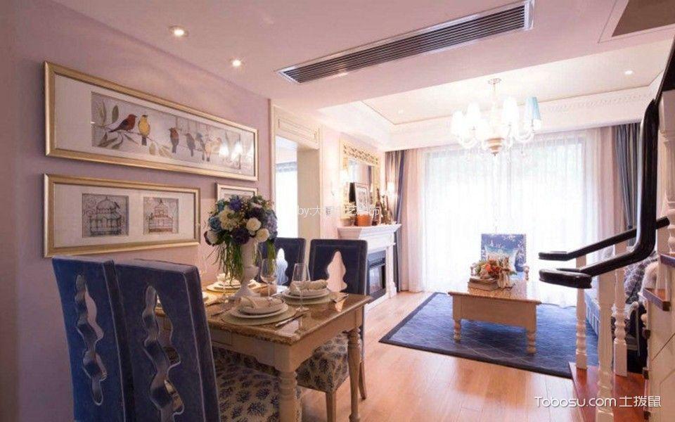 沙河小区地中海风格110平米三室两厅跃层装修效果图