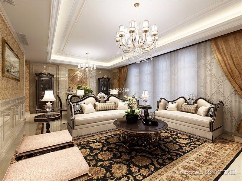 龙湖春江彼岸小区200平欧式风格五居室装修效果图
