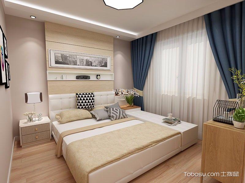 上海林天新苑80平米北欧风格效果图