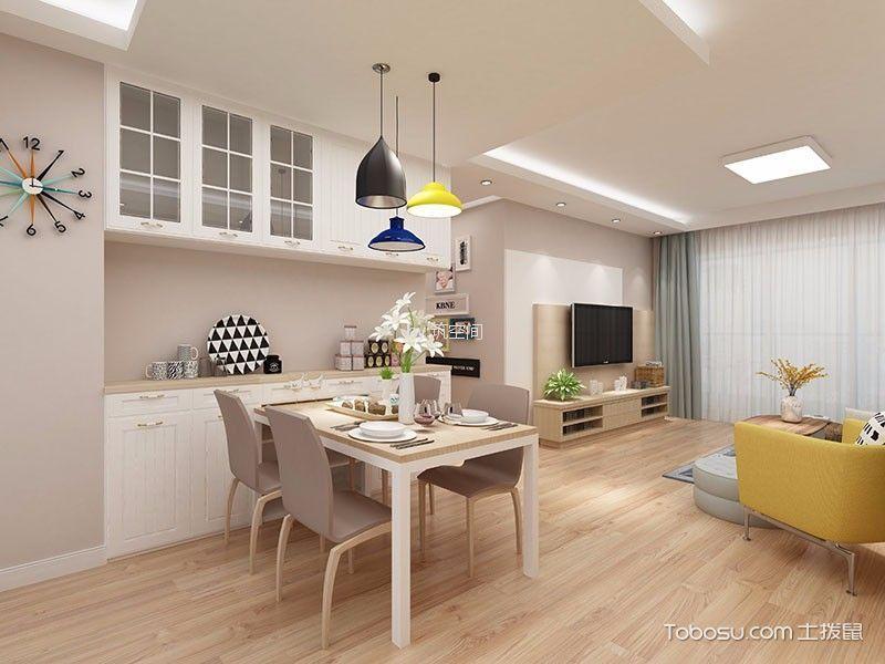 松江区北欧风格二居室装修风格