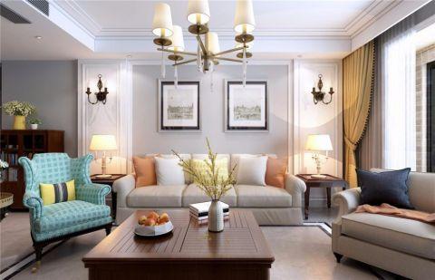 郑州112平三居室现代简约风格装修案例效果图