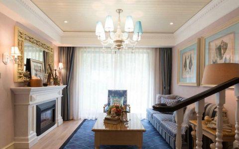 美式风格110平米跃层室内装修效果图
