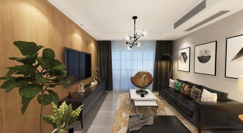 6万雨润城114平米现代风格三居室装修效果图