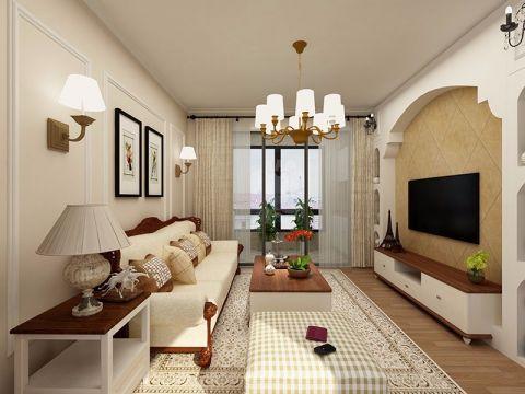 10.6万松江区简美风格二居室89平装修效果图