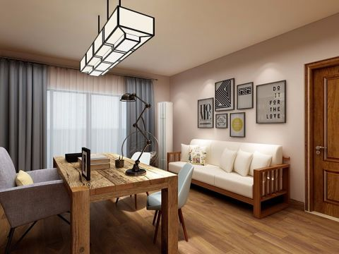 松江区混搭风格100平米三居室装修效果图