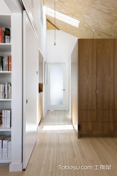 玄关咖啡色地板砖北欧风格装修设计图片