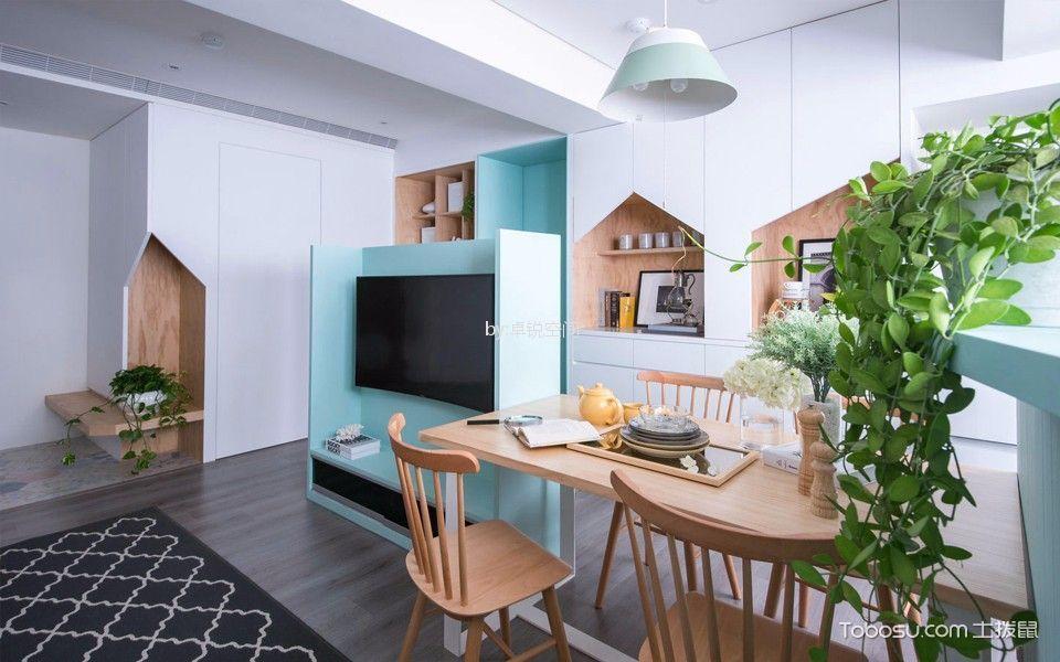 翠微南里85平方米现代简约风格2居室装修效果图