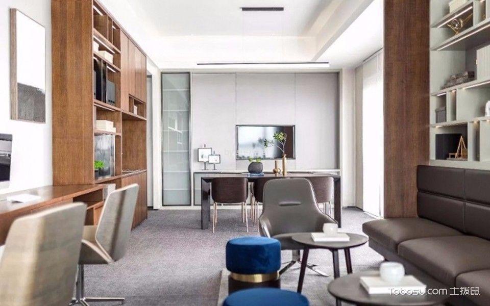橙色时代180平方米现代简约公寓装修效果图