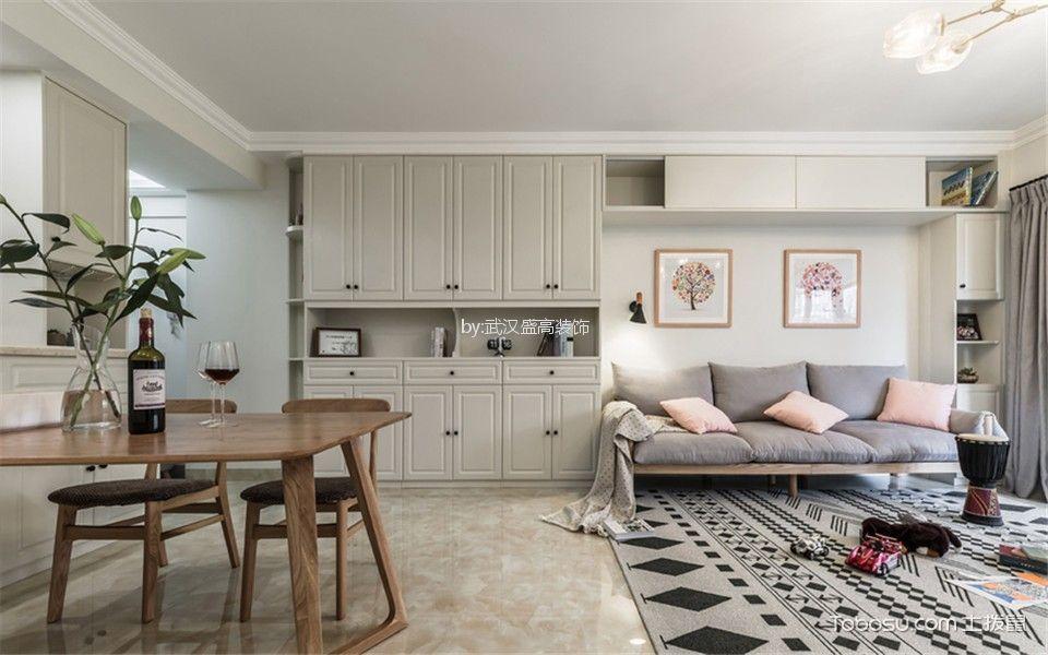联投金色港湾96平米北欧风格二居室装修效果图